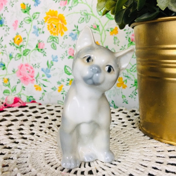 Vintage 80s 90s Otagiri Ceramic Cat Figurine Small